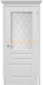 3296, Дверь Челси 04 белая эмаль, остекленная, 25727, 7 330.00 р., 3296-01, , Эмаль, серия Классика