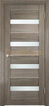 1495, Дверь Сицилия 12 вишня малага, остекленная, белый триплекс, 18964, 9 660.00 р., 1495-01, , Двери экошпон Премиум