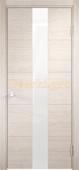 2832, Дверь Турин 14 дуб бежевый вералинга, остекленная, 22538, 6 935.00 р., 2832-01, , Двери экошпон Премиум