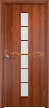 884, Дверь Тип С-12 итальянский орех, остекленная, 13306, 2 070.00 р., 884-01, , Двери в финиш-пленке