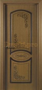 1079, Дверь Муза орех, глухая, 15561, 4 470.00 р., 1079-01, , Двери шпон Стандарт