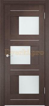 1606, Дверь Сицилия 14 венге, остекленная, 19177, 9 470.00 р., 1606-01, , Двери экошпон Премиум