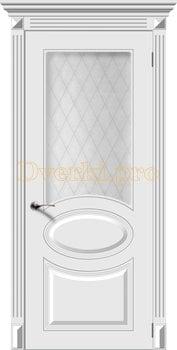 2671, Дверь Джаз белая эмаль, остекленная, 22114, 7 585.00 р., 2671-01, , Эмаль, серия Классика