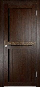 2562, Дверь Берлин 01 (Лакобель) дуб темный, остекленная, 22005, 4 505.00 р., 2562-01, , Двери Eldorf экошпон с 3D покрытием