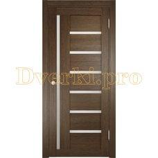 Дверь ЭКО 02 венге мелинга, остекленная