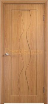 371, Дверь Вираж миланский орех, глухая, 11418, 4 710.00 р., 371-01, , Двери облицованные ПВХ