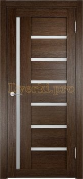 1940, Дверь Берлин 02 дуб табак, остекленная, 20865, 3 730.00 р., 1940-01, , Двери Eldorf экошпон с 3D покрытием