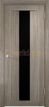 1330, Дверь Сицилия 02 вишня малага, остекленная, черный триплекс, 18545, 9 660.00 р., 1330-01, , Двери экошпон Премиум