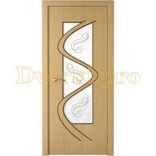 Дверь Вега дуб, остекленная