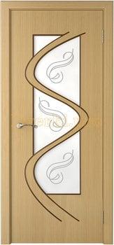 3207, Дверь Вега дуб, остекленная, 14762, 6 280.00 р., 3207-01, , Двери шпон Стандарт