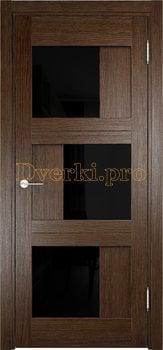 2543, Дверь Баден 10 (Лакобель) дуб табак, остекленная, 21986, 5 410.00 р., 2543-01, , Двери Eldorf экошпон с 3D покрытием