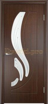 254, Дверь Лиана венге, остекленная, 11171, 4 490.00 р., 254-01, , Двери облицованные ПВХ