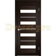 Дверь X-5 венге, остекленная
