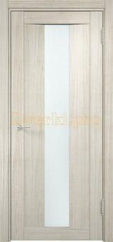 1332, Дверь Сицилия 02 беленый дуб мелинга, остекленная, белый триплекс, 18547, 9 660.00 р., 1332-01, , Двери экошпон Премиум