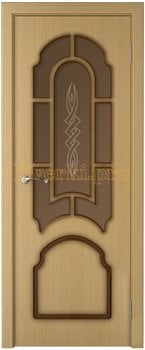 3237, Дверь Соната дуб, остекленная, 15754, 6 145.00 р., 3237-01, , Двери шпон Стандарт