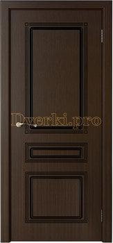 1657, Дверь Стиль венге, глухая, 20207, 4 535.00 р., 1657-01, , Двери шпон Стандарт