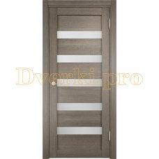 Дверь ЭКО 03 вишня малага, остекленная