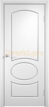 597, Дверь Неаполь белая, глухая, 11704, 4 225.00 р., 597-01, , Двери облицованные ПВХ