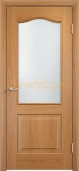 2240, Дверь Классика дуб, остекленная, 21369, 4 140.00 р., 2240-01, , Двери облицованные ПВХ