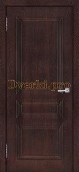 3530, Дверь Римини (объемный багет) шоколад, глухая, 27048, 3 920.00 р., 3530-01, , Двери облицованные ПВХ