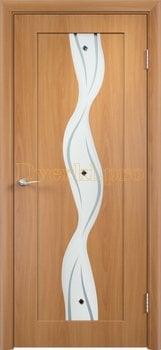 346, Дверь Вираж миланский орех, остекленная, 11393, 5 355.00 р., 346-01, , Двери облицованные ПВХ