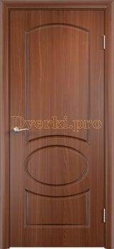 596, Дверь Неаполь итальянский орех, глухая, 11703, 4 225.00 р., 596-01, , Двери облицованные ПВХ