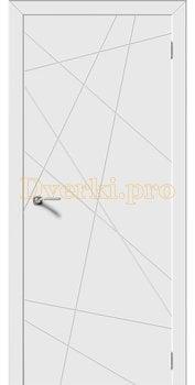 2665, Дверь Вектор белая эмаль, остекленная, 22108, 5 985.00 р., 2665-01, , Эмаль, серия Граффити и 3D