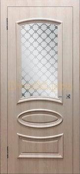 3460, Дверь Ровито (объемный багет) крем, остекленная, 26914, 5 130.00 р., 3460-01, , Двери облицованные ПВХ