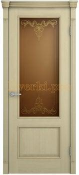 3181, Дверь Шервуд Лондон дуб соновая кость, остекленная, 20503, 11 340.00 р., 3181-01, , Двери шпон Комфорт