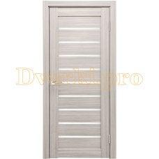 Дверь X-2 лиственница белая, остекленная