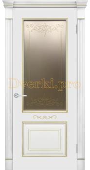 Дверь Фелиса эмаль RAL9010, остекленная