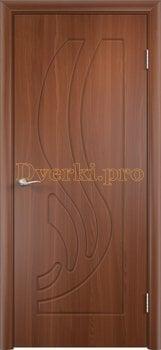258, Дверь Лиана итальянский орех, глухая, 11175, 3 905.00 р., 258-01, , Двери облицованные ПВХ
