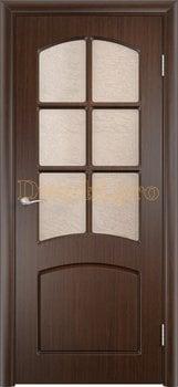 423, Дверь Кэрол венге, остекленная, 11530, 4 595.00 р., 423-01, , Двери облицованные ПВХ