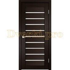 Дверь X-2 венге, остекленная