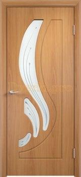 281, Дверь Лиана миланский орех, остекленная, 11198, 4 490.00 р., 281-01, , Двери облицованные ПВХ