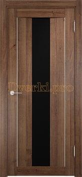1345, Дверь Сицилия 02 венге мелинга, остекленная, черный триплекс, 18560, 9 660.00 р., 1345-01, , Двери экошпон Премиум