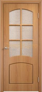 414, Дверь Кэрол миланский орех, остекленная, 11521, 4 595.00 р., 414-01, , Двери облицованные ПВХ