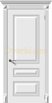 2690, Дверь Багет 3 белая эмаль, остекленная, 22157, 13 375.00 р., 2690-01, , Эмаль, серия Багет