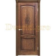 Дверь Наполи 3D орех, глухая