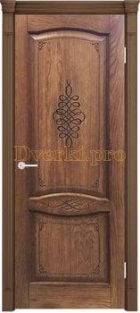 3278, Дверь Наполи 3D орех, глухая, 25741, 9 230.00 р., 3278-01, , Двери шпон Комфорт