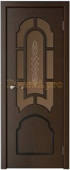 3233, Дверь Соната венге, остекленная, 15727, 6 235.00 р., 3233-01, , Двери шпон Стандарт