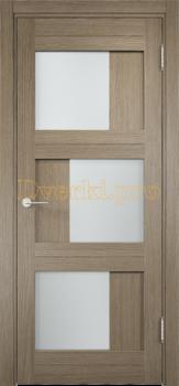 2131, Дверь Баден 10 дуб дымчатый, остекленная, 21211, 4 125.00 р., 2131-01, , Двери Eldorf экошпон с 3D покрытием