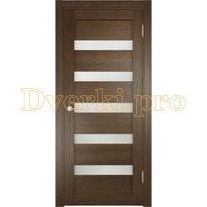 Дверь ЭКО 03 венге мелинга, остекленная