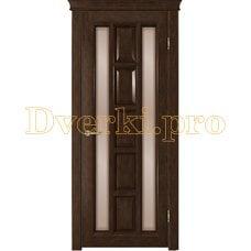Дверь Квадра каштан, остекленная