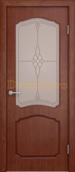 3160, Дверь Каролина макоре, остекленная, 20447, 6 920.00 р., 3160-01, , Двери шпон Комфорт