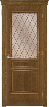 3711, Дверь Тридорс ольха, остекленная, 27750, 10 568.00 р., 3711-01, , Двери шпон Комфорт