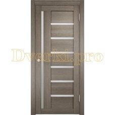 Дверь ЭКО 02 вишня малага, остекленная