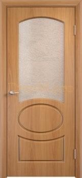 570, Дверь Неаполь миланский орех, остекленная, 11677, 4 705.00 р., 570-01, , Двери облицованные ПВХ