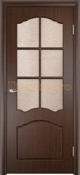 510, Дверь Лидия венге, остекленная, 11617, 4 170.00 р., 510-01, , Двери облицованные ПВХ