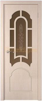 3235, Дверь Соната беленый дуб, остекленная, 15772, 6 650.00 р., 3235-01, , Двери шпон Стандарт